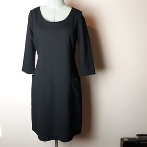 Kate Spade black ponte knit sheath dress